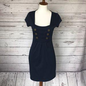 Belle du Jour Navy Cap Sleeve Dress Size Small